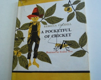 Vintage Children's Book, A Pocketful of Cricket
