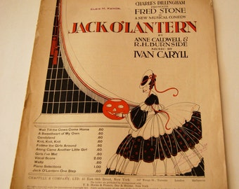 Antique Sheet Music, Jack O'Lantern