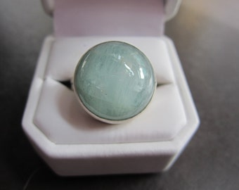Aquamarine and Sterling Silver ring