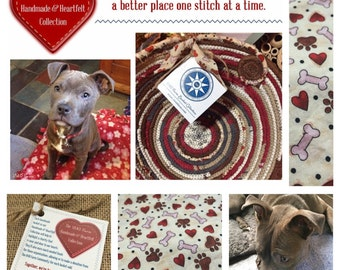 Puppy Love - The Handmade and Heartfelt Collection - Made to Order Handmade Fabric Baskets and Trivets