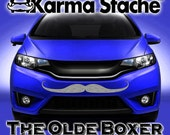 """36"""" Car Mustache Vinyl Decal Sticker - Style; Olde Boxer - Color; Gray  -  Karma Stache: Your #1 Source for Car Mustaches!"""