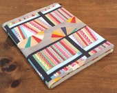 Quilted composition notebook cover, Quilt Art, fabric art, modern notebook, writing journal, diary, recipe notebook