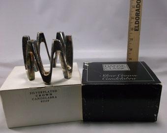 Candle Holder DANSK Jens Quistgaard Crown Candelabra  Mid Century Modern Silver Plate .epsteam