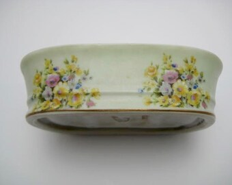 Lefton China Soap Dish 40s Vintage ECS