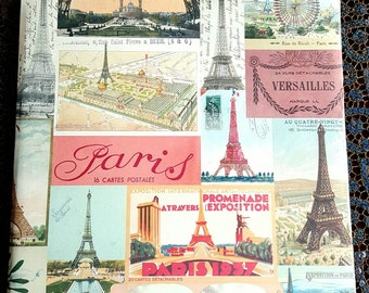 Paris Eiffel Tower Photo Album 12x12 Retro Print