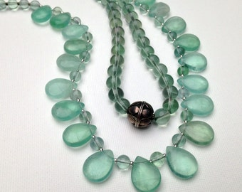 Green fluorite tranquility necklace