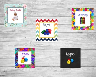 Playroom Labels - Personalized