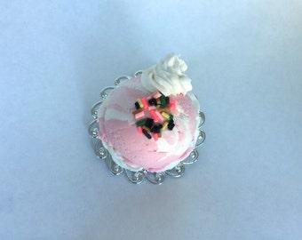 Strawberry ice cream pin