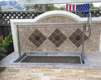 Stainless Santa Maria BBQ grill Drop In Unit 36x24
