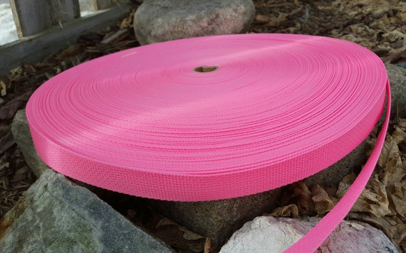 Pink  Polypro one-inch Webbing