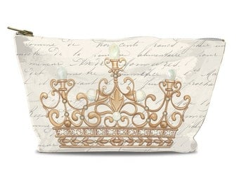French Crown Zipper Pouch