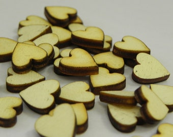 Wood Hearts unfinished wood craft supply - wooden heart cut outs