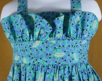 12 to 18 mos Petal print strap dress