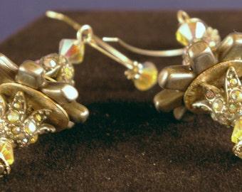 Rowels with Swarovski Bead Earrings