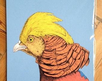 Golden Peasant Print - Unframed A3