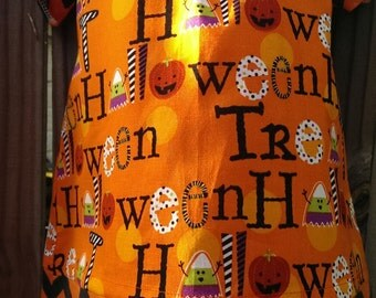 Halloween/Chevron peasant style dress