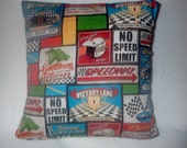Decorative Pillow Cover, Home Decor,16 x 16 Pillow Cover,Car Racing, Speedway, Gearhead, Speedway, Race Fans, Stock Car, Speed Shop, Racing