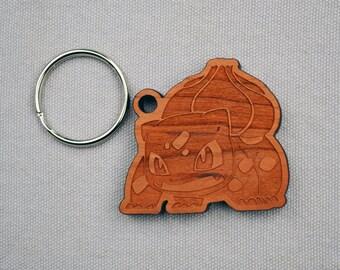 Bulbasaur Keychain/ Pokemon/ Nintendo/ Laser Engraved Gift/Pokemon Keychain