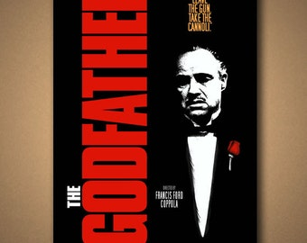 THE GODFATHER Movie Quote Poster