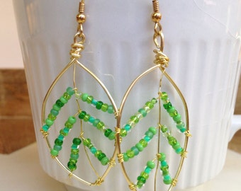 Gold Leaf Gypsy Statement Earrings