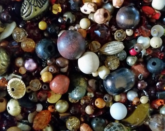 Huge Scoop of Brown Beads!! Bead Soup * 6 oz.!