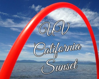 "UV California Sunset Colored 3/4"" or 5/8"" PolyPro Hula Hoop - You pick the size - by Colorado Hula Hoops"