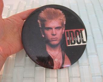 1980s Billy Idol Button Hair Band 1980s Rock Band Pin Jumbo