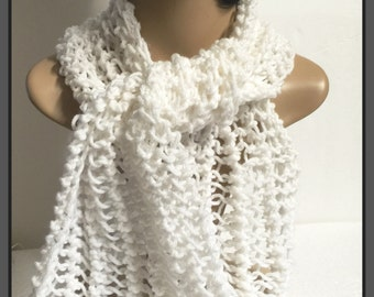 Hand knit scarf set-Winter Accessories-Neck Scarf-teens- Womens Accessories-ready to ship