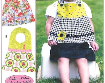 Super Bowl Sale Pattern - Pretty in Bibs Paper Sewing Pattern by Vanilla House Designs