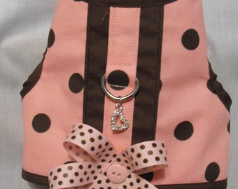 pink and brown harness vest