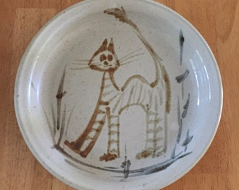 Vintage Ceramic Cat Plate ... Free Shipping