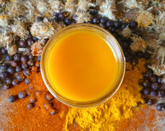 Arnica Salve, Organic Herbal Salve, Organic Muscle Rub with Capsaicin, Joint Balm,  Sore Muscle Cream, Turmeric Salve, Devil's Claw Root