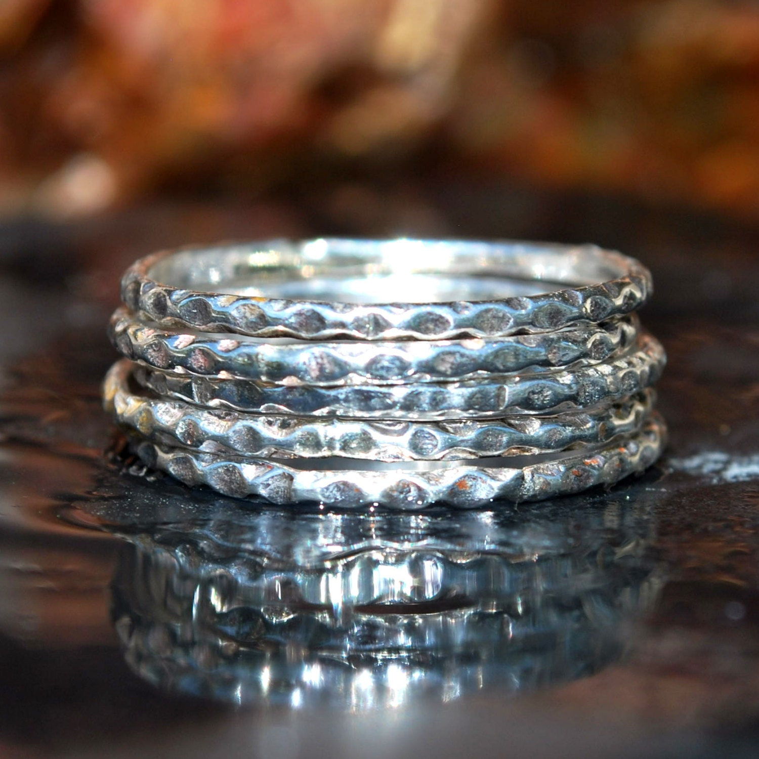 patterned silver stacking ring durable silver stack ring