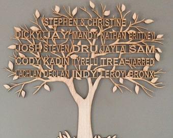 Family Tree Wall Hanging LaserCut