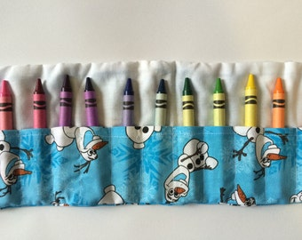 Do You Want to Draw A Snowman? Crayon Roll Up