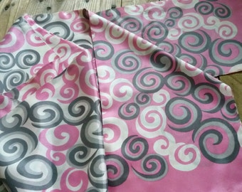 Mod sash scarf 1960's  ~ psychedelic silk acetate sash scarf