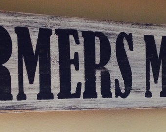 Handmade Farmers Market Wooden Sign