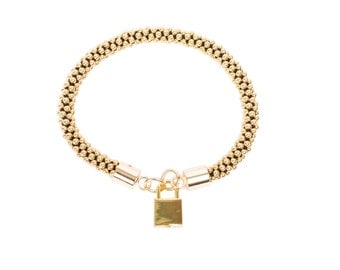 GOLD ISABELLE PADLOCK