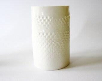 White porcelain tumbler