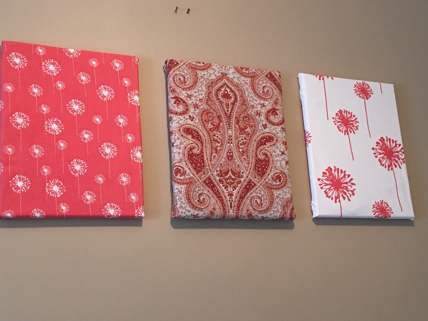 Fabric Covered Wall Art : Fabric covered canvas wall art many by