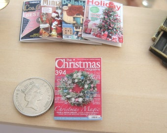 dollhouse christmas magazine  12th scale miniature x 1