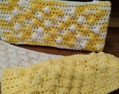 3 Crochet Swiffer covers in Lemon Yellow & off white tones, swiffer duster, swiffer mop, reusable Swiffer pad, Swiffer sweeper