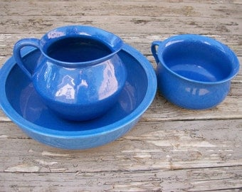 Adderleys England Wash Basin Pitcher Chamber Pot set