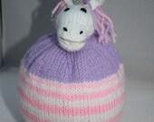 Hand Knitted Unicorn Bobble Hat for Children // Size 2 - 4 Years // Cute Christmas Gift // Stocking Stuffer // Children's Winter Hat