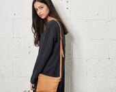 James, Small Brown Leather Bag, Women Shoulder Bag, Crossbody Purse Bag, Natural Brown Clutch, HandBag