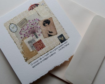 Greeting Card with Dorothy Parker quote