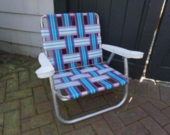 Lawn Chair, Folding Chair, Aluminum Frame, Pool, Beach, Lawn Party,