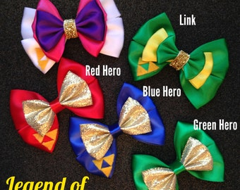 Legend of Zelda Triforce Heroes inspired bows