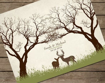 PDF FILE DOWNLOAD Guest Book Alternative Thumbprint Wedding Tree Fingerprint Wedding Tree Guest Book Guestbook Custom Wedding Gift