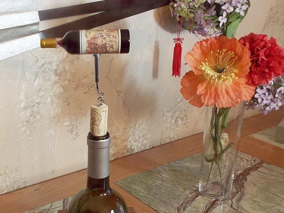 18 - Cork Screw Miniature Wine Bottle (red)